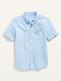 Chemise oxford d'uniforme à extensibilité intégrée à manches courtes pour Garçon