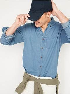 Slim-Fit Built-In Flex Everyday Chambray Shirt for Men