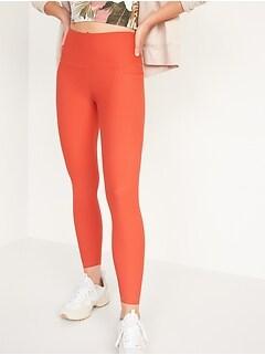 Leggings mi-long Elevate Powersoft à taille haute avec poches latérales pour femme