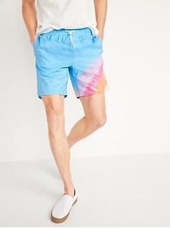Tie-Dye Swim Trunks for Men -- 8-inch inseam