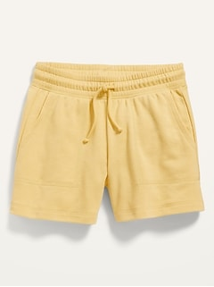 Vintage Solid French Terry Shorts for Girls
