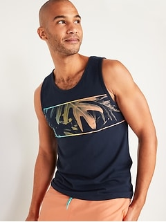 Soft-Washed Graphic Tank Top for Men