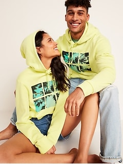 Gender-Neutral Graphic Pullover Hoodie for Adults