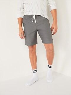 Poplin Pajama Shorts for Men--9-inch inseam