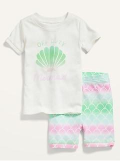 Unisex Graphic Pajama Set for Toddler & Baby