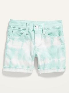 Tie-Dye Jean Midi Shorts for Girls