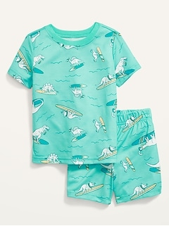 Unisex Loose-Fit Printed Pajama Set for Toddler & Baby