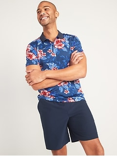 Go-Dry Cool Odor-Control Printed Core Polo for Men