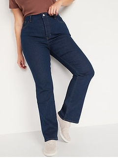 High-Waisted Kicker Boot-Cut Button-Fly Jeans for Women