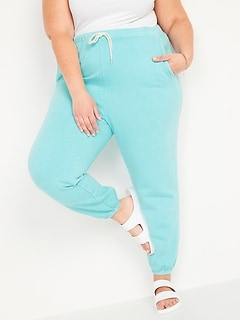 Extra High-Waisted Garment-Dyed Plus-Size Sweatpants