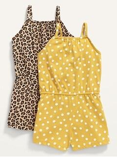 2-Pack Sleeveless Jersey Romper for Toddler Girls