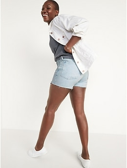High-Waisted O.G. Exposed Pocket Cut-Off Jean Shorts for Women -- 3-inch inseam