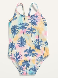 Printed One-Piece Swimsuit for Toddler Girls