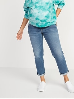 Maternity Full Panel Boyfriend Straight Jeans