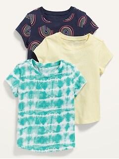 T-shirt à manches courtes pour Toute-petite fille (paquet de3)