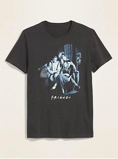 T-shirt unisexe à imprimé des personnages de FriendsMC pour adulte