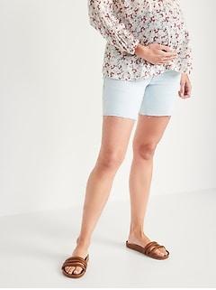 Maternity Full Panel Cut-Off Jean Shorts -- 7-inch inseam