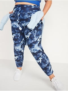 Pantalon de jogging court Powersoft à taille haute, taille forte