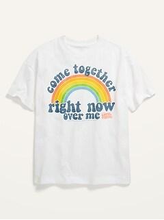 Gender-Neutral Licensed Pop-Culture Oversized T-Shirt for Kids