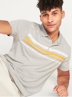 Go-Dry Cool Odor-Control Striped Core Polo Shirt for Men