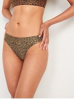 Culotte de bikini réversible à taille mi-basse pour Femme