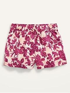 Floral Linen-Blend Shorts for Girls