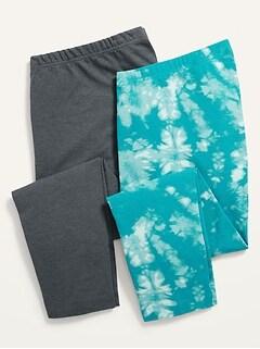 High-Waisted Cropped Leggings 2-Pack for Women