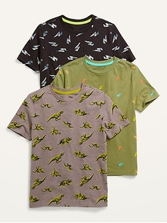 Vintage Crew-Neck Tees 3-Pack for Boys