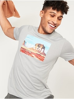 Graphic Go-Dry Cool Odor-Control Core Tee for Men