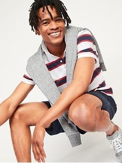 Striped Moisture-Wicking Pro Polo for Men