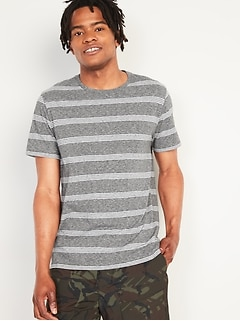 Soft-Washed Striped Crew-Neck Tee for Men