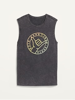 Vintage Graphic Gender-Neutral Sleeveless Tee for Adults