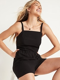 Soft-Woven Cami Romper for Women -- 3.5-inch inseam
