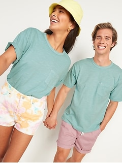 Vintage Garment-Dyed Pocket Gender-Neutral Tee for Adults