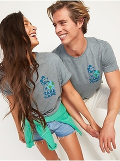 Disney© Mickey Mouse Earth Day Gender-Neutral Matching Graphic Tee for Adults