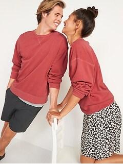 Vintage Garment-Dyed Gender-Neutral Sweatshirt for Adults