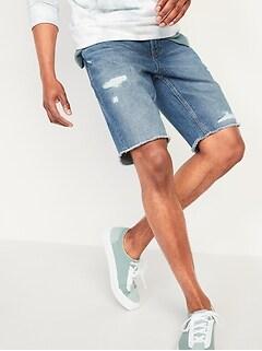 Slim Cut-Off Jean Shorts for Men -- 9.5-inch inseam