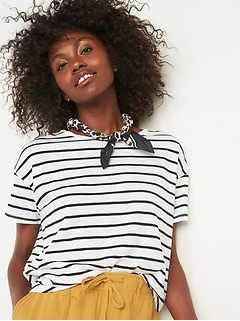 Loose Striped Easy T-Shirt for Women