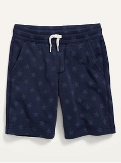 Vintage Printed Jogger Shorts for Boys
