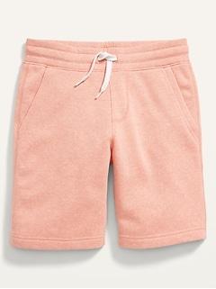 Flat-Front Fleece Jogger Shorts for Boys
