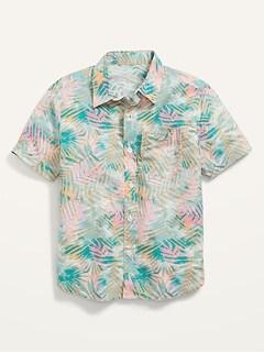 Built-In Flex Short-Sleeve Pocket Shirt for Boys