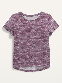 Softest Printed Scoop-Neck T-Shirt for Girls