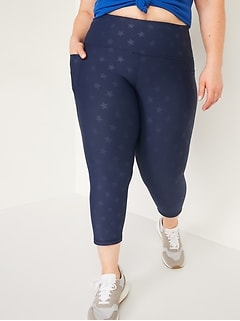 High-Waisted PowerSoft Cropped Plus-Size Leggings