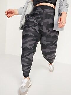 Pantalon de jogging Powersoft mi-long à taille haute avec poches latérales, taille forte