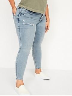 High-Waisted Secret-Slim Pockets Rockstar Super Skinny Plus-Size Ripped Jeans