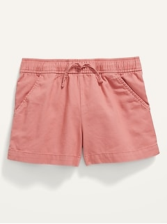 Twill Pull-On Shorts for Girls