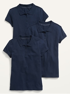 Uniform Pique Polo 3-Pack for Girls