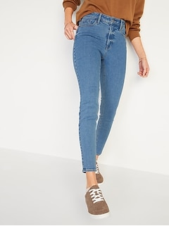 High-Waisted Rockstar Super Skinny Medium-Wash Jeans for Women
