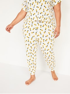 High-Waisted Sunday Sleep Ultra-Soft Plus-Size Pajama Joggers