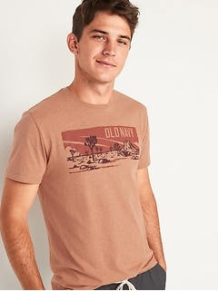 Soft-Washed Logo-Graphic Crew-Neck Tee for Men